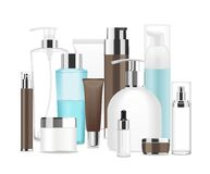 Group of different cosmetic tubes. Stock Photography