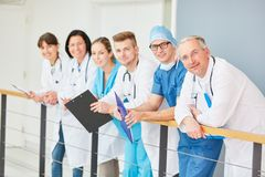 Group of different doctors and therapists stock image