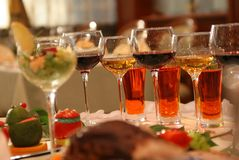 Group of different glasses Royalty Free Stock Photo