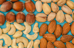 Group of different nuts Royalty Free Stock Photography