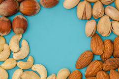 Group of different nuts Royalty Free Stock Photo