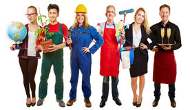 Group with different occupations Stock Images