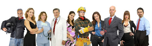 Group of different people stock photography