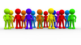 Group of different people. This is a 3d render illustration Royalty Free Stock Photos
