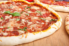 Group of different pizzas Royalty Free Stock Photos