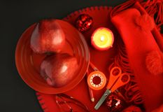 Group of red objects Stock Image