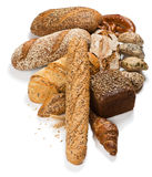 Group of different types of bread Royalty Free Stock Image