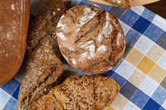 Group of different types of bread and bakery products Stock Photography