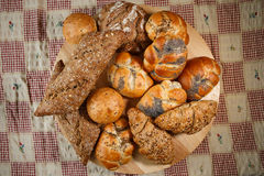 Group of different types of bread and bakery products Royalty Free Stock Image