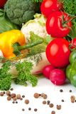 Group of different vegetables Stock Photos