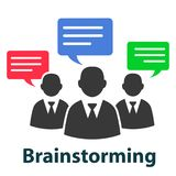 Group discuss, brainstorming concept - vector. Group discuss, brainstorming concept – stock vector vector illustration