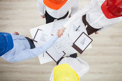 Group discussion in a construction company Royalty Free Stock Photo