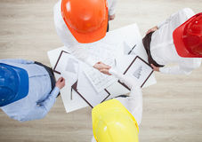 Group discussion in a construction company Stock Images