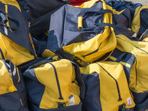 Group of disordered Modern sport bag Stock Photos