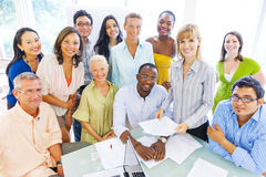 Group of Diverse Business Colleagues Stock Photo