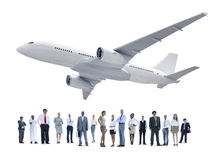 Group of Diverse Business People with an Airplane Royalty Free Stock Images