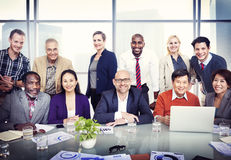 Group of Diverse Business People in a Board Room Stock Image