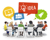 Group of Diverse Business People Brainstorming Stock Photo