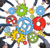 Group of Diverse Business People with Gears Royalty Free Stock Photo