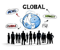 Group of Diverse Business People Global Communication Stock Photo