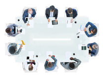 Group of Diverse Business People in a Meeting Stock Images
