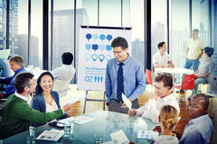 Group of Diverse Business People in a Meeting Stock Image