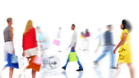 Group of  Diverse Busy People Shopping Royalty Free Stock Photography
