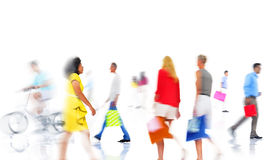 Group of  Diverse Busy People Shopping Stock Photos