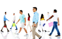 Group of Diverse Busy People Shopping Royalty Free Stock Photo