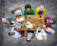 Group of Diverse Cheerful Designers Looking Up Royalty Free Stock Photo