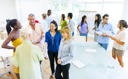 Group of Diverse Colleagues greeting Stock Images