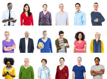 Group of Diverse Colorful Cheerful People Concept Stock Images