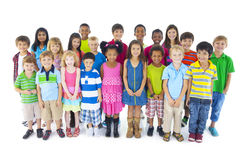 Group of Diverse Cute Children Stock Photo