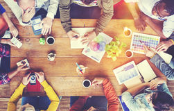 Group of Diverse Designers Having a Meeting Concept Royalty Free Stock Photography