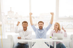 Group of diverse designers in their modern office Royalty Free Stock Photos