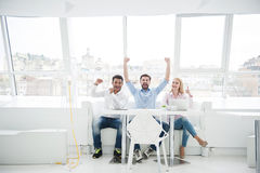 Group of diverse designers in their modern office Royalty Free Stock Photo