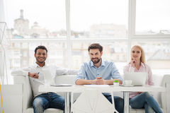 Group of diverse designers in their modern office Royalty Free Stock Images