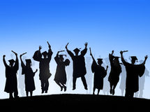 Group Of Diverse International Students Celebrating Royalty Free Stock Photos