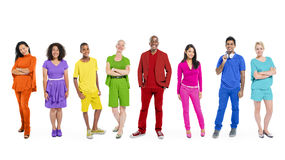Group of Diverse Multiethnic Colorful People Royalty Free Stock Photography