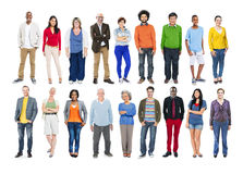 Group of Diverse Multiethnic Colourful People Royalty Free Stock Image