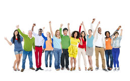 Group of Diverse Multiethnic People Celebrating Stock Photos