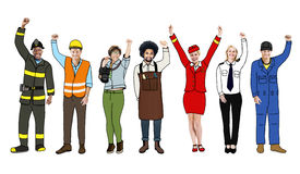 Group of Diverse Multiethnic People with Different Jobs Royalty Free Stock Photography