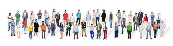 Group of Diverse Multiethnic People with Different Jobs Concept.  stock images