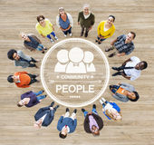 Group of Diverse Multiethnic People Forming a Circle Stock Photos