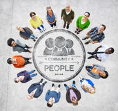 Group of Diverse Multiethnic People Forming a Circle Royalty Free Stock Photography