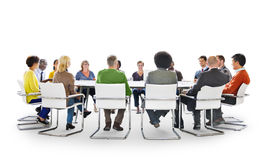 Group of Diverse Multiethnic People in a Meeting Stock Photo