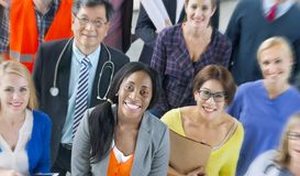 Group of diverse occupations people royalty free stock images