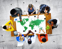 Group of Diverse People Discussing About World Issues Royalty Free Stock Images