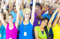 Group of Diverse People at an Event Stock Images