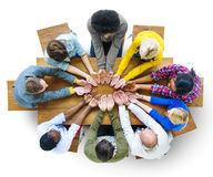 Group of Diverse People Hand Cupped Royalty Free Stock Images